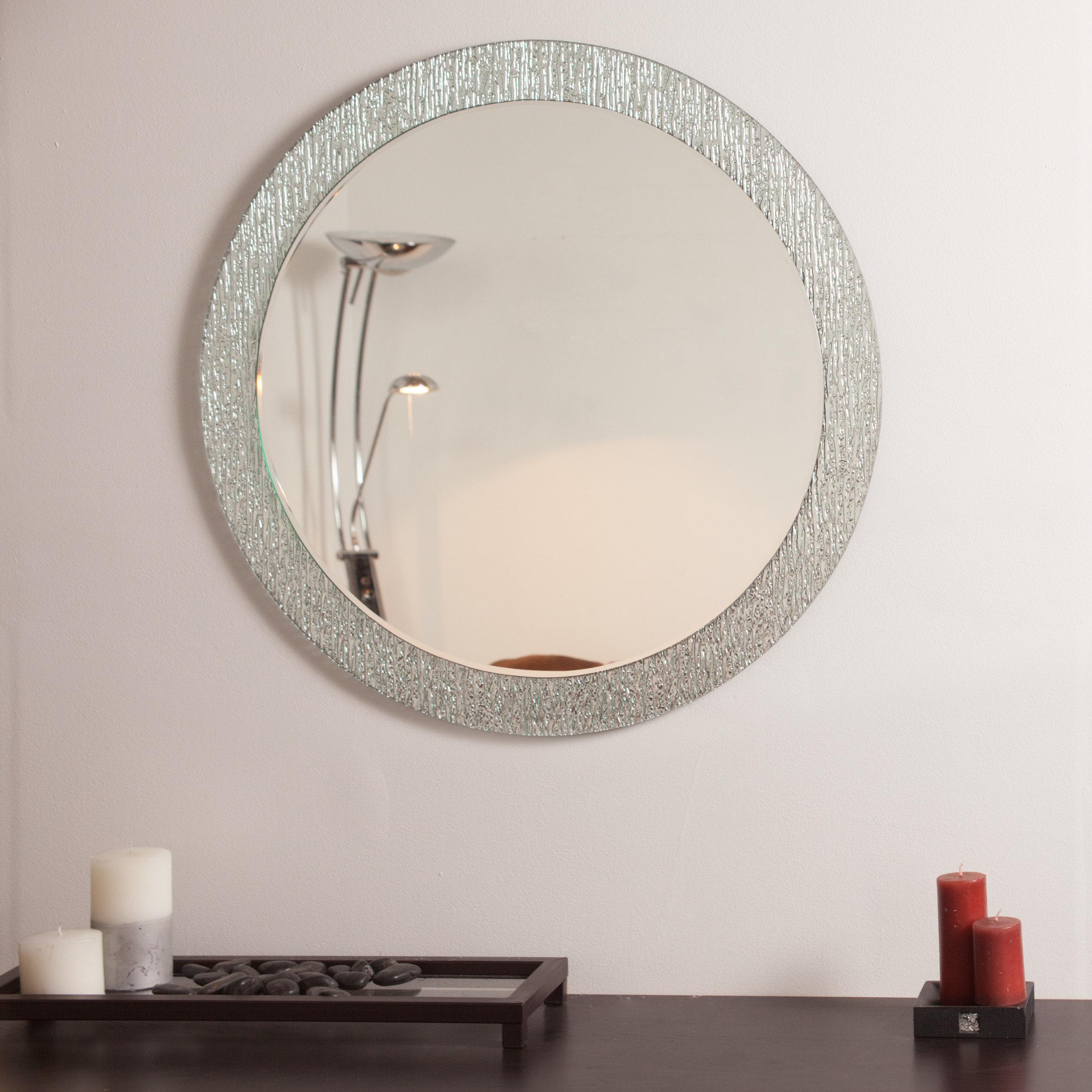 Point Reyes Molten Round Wall Mirror In Point Reyes Molten Round Wall Mirrors (View 2 of 20)