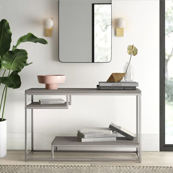 Polished Nickel Console Table | Wayfair Regarding Carmella Satin Plated Coffee Tables (View 22 of 50)