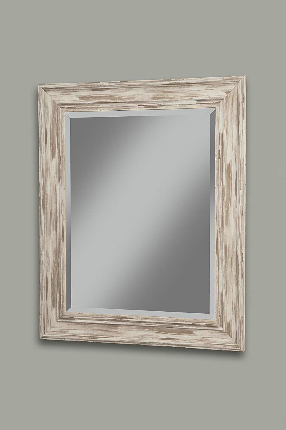 Polystyrene Framed Wall Mirror With Sharp Edges, Antique With Regard To Bartolo Accent Mirrors (Image 12 of 20)