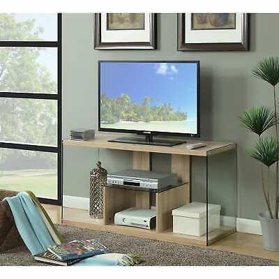 Porche & Den Urqhuart Madera/vidrio Soporte De Tv | Ebay Regarding Porch & Den Urqhuart Wood Glass Coffee Tables (View 4 of 50)