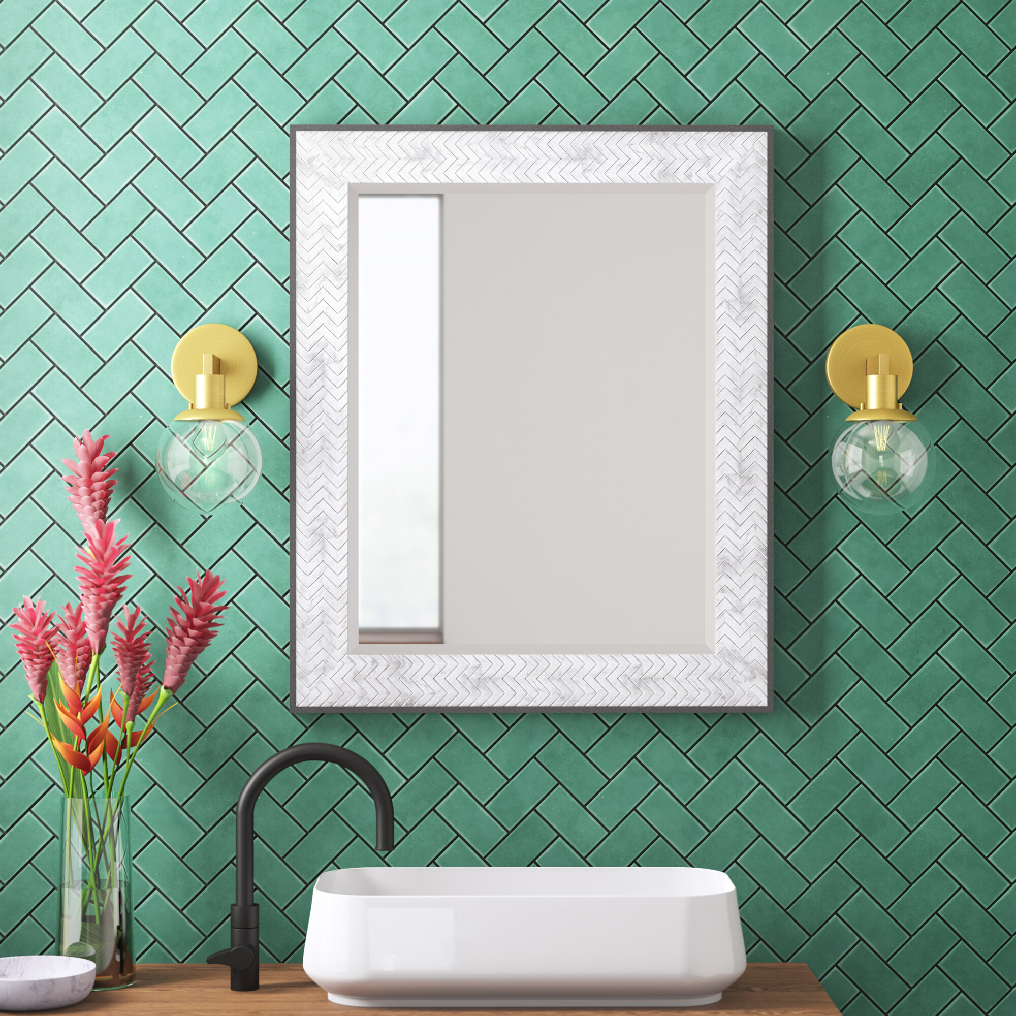 Powder Room All Mirrors Rh Modern Ma T Mirror Within Shildon Beveled Accent Mirrors (View 16 of 20)