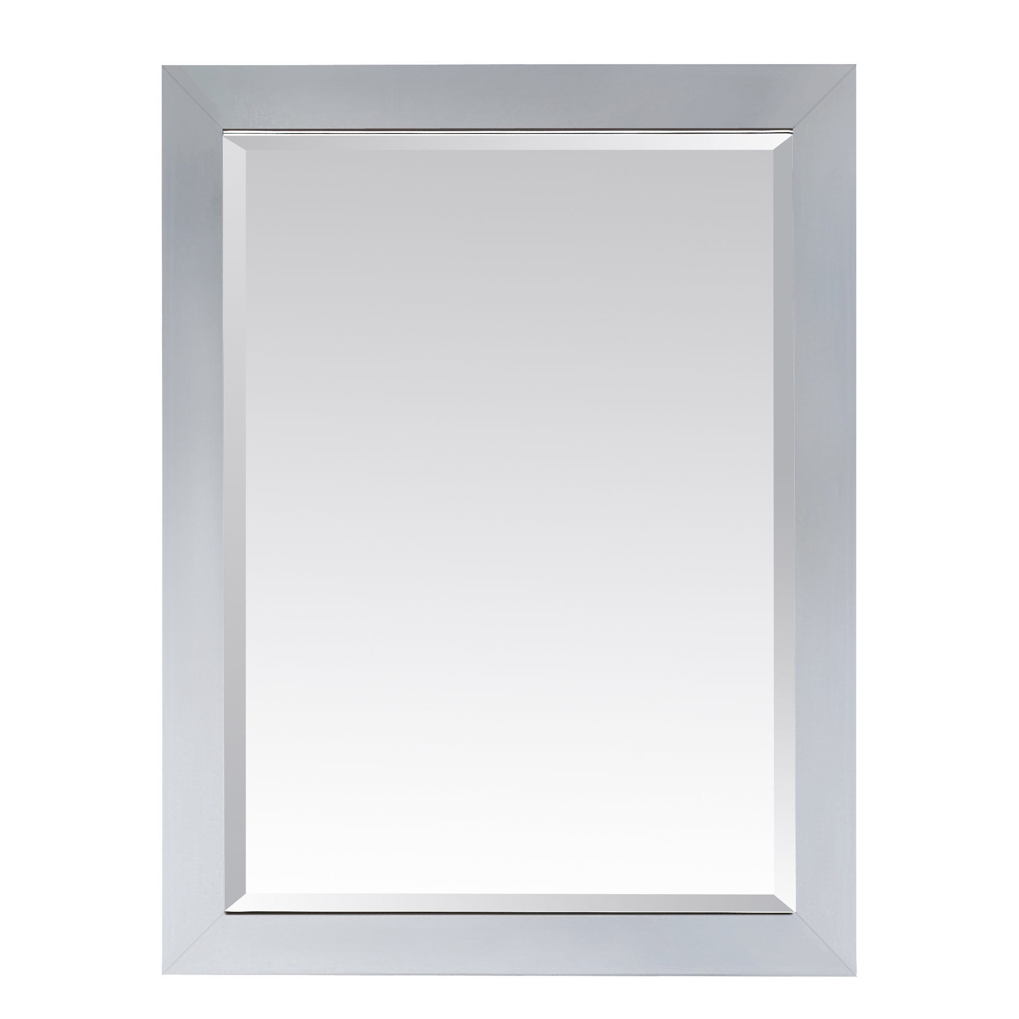 "Poyen 28"" Rectangle Beveled Wall Mirror For Tetbury Frameless Tri Bevel Wall Mirrors (View 14 of 20)"