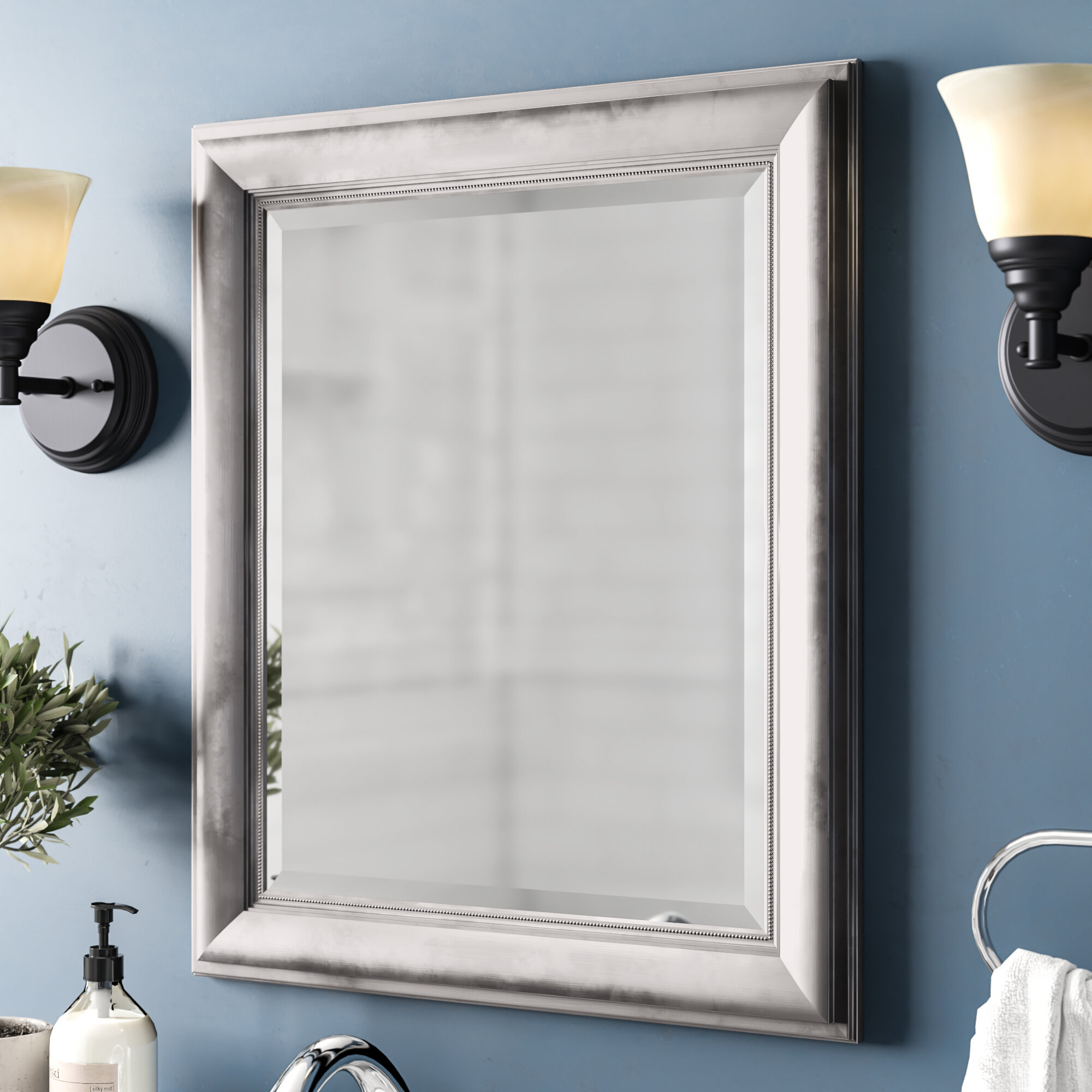 Princeton Rectangular Framed Wall Mirror Intended For Dedrick Decorative Framed Modern And Contemporary Wall Mirrors (Image 17 of 20)