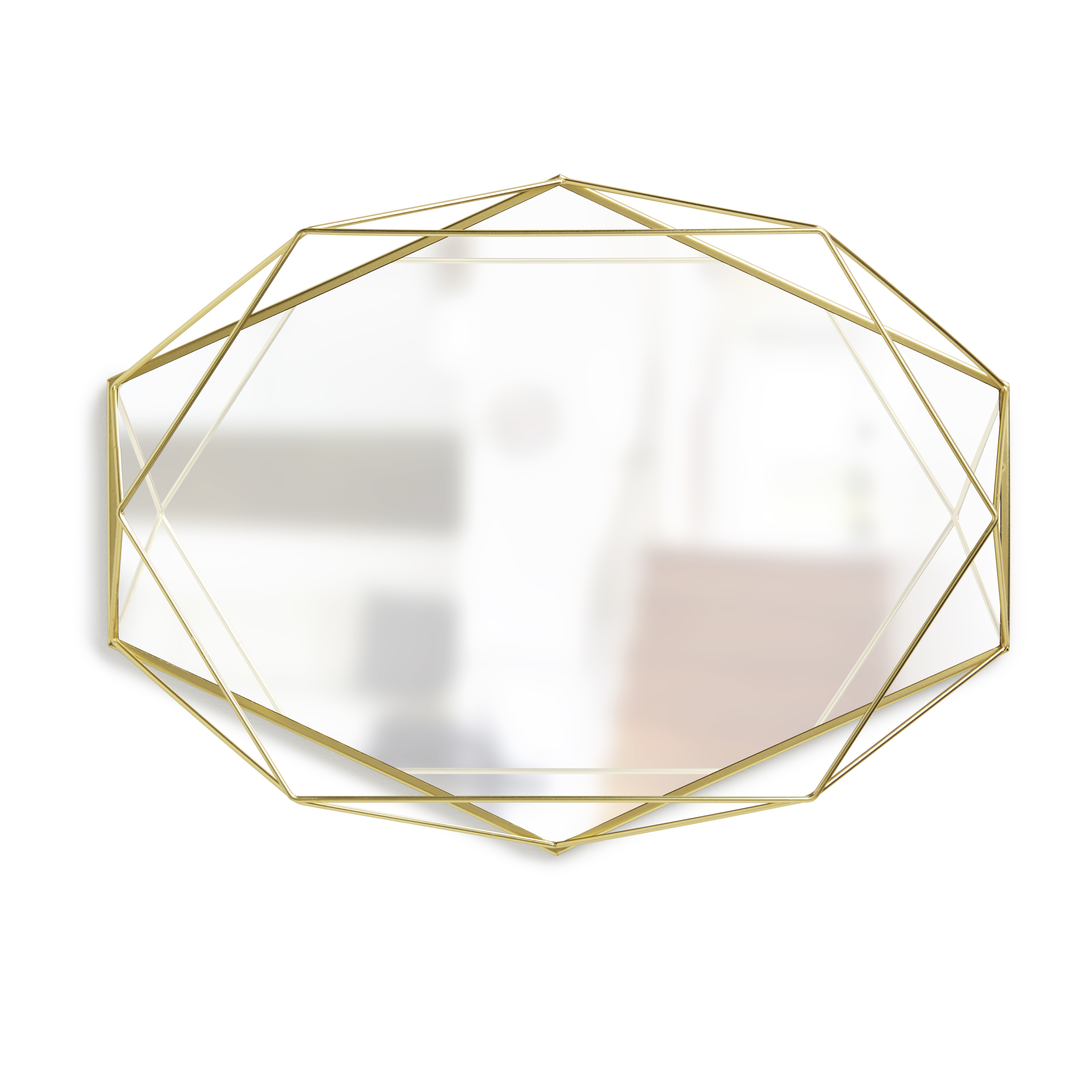 Prisma Mirror/tray 57 X 43 Cm – Brass In 2019 | Products With Dekalb Modern & Contemporary Distressed Accent Mirrors (Image 15 of 20)