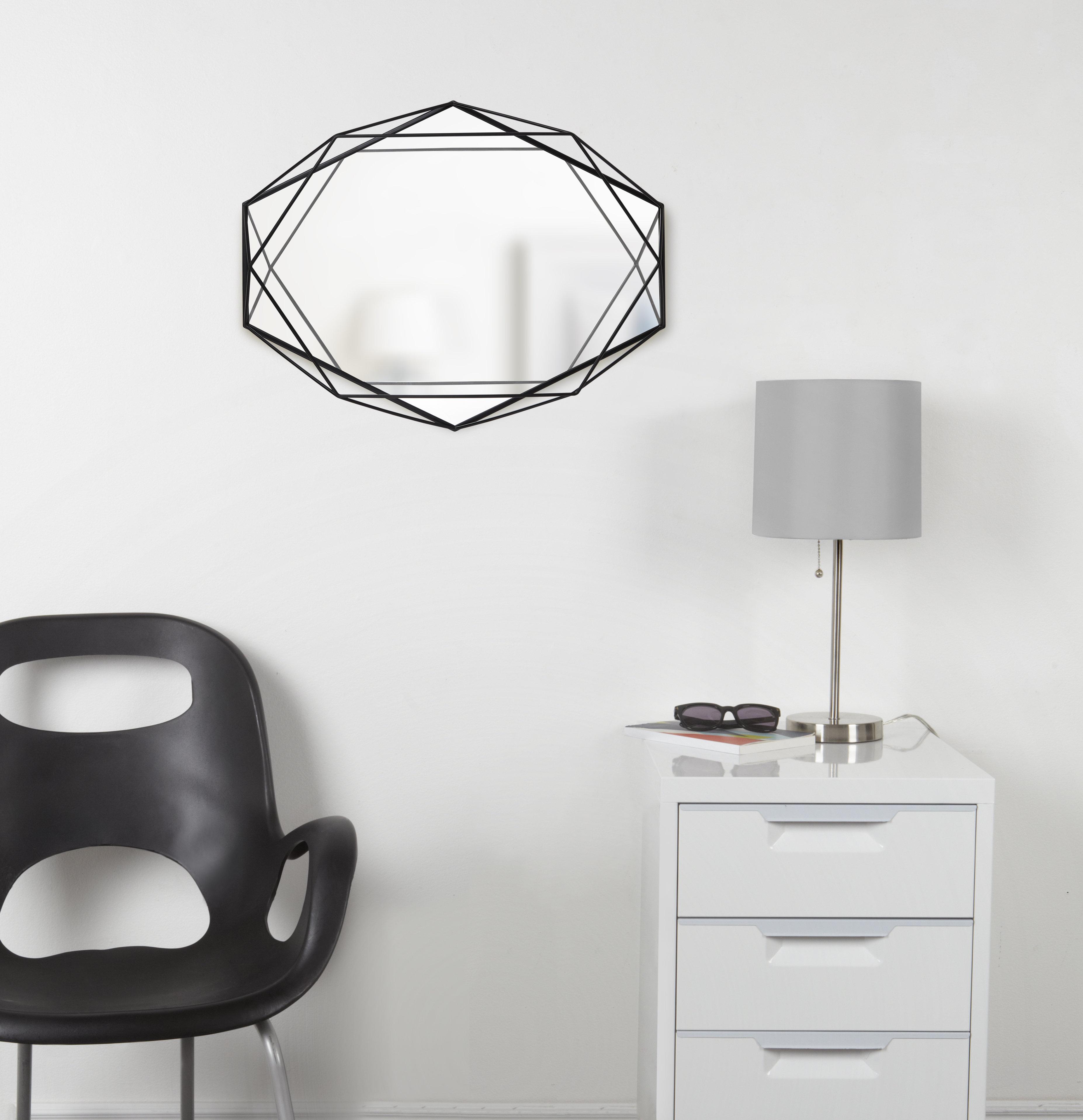 Prisma Modern & Contemporary Accent Mirror & Reviews | Joss Regarding Guidinha Modern & Contemporary Accent Mirrors (View 11 of 20)