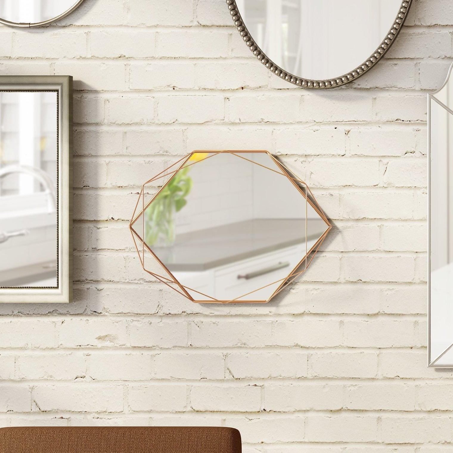 Prisma Modern & Contemporary Accent Mirror Throughout Trigg Accent Mirrors (View 13 of 20)
