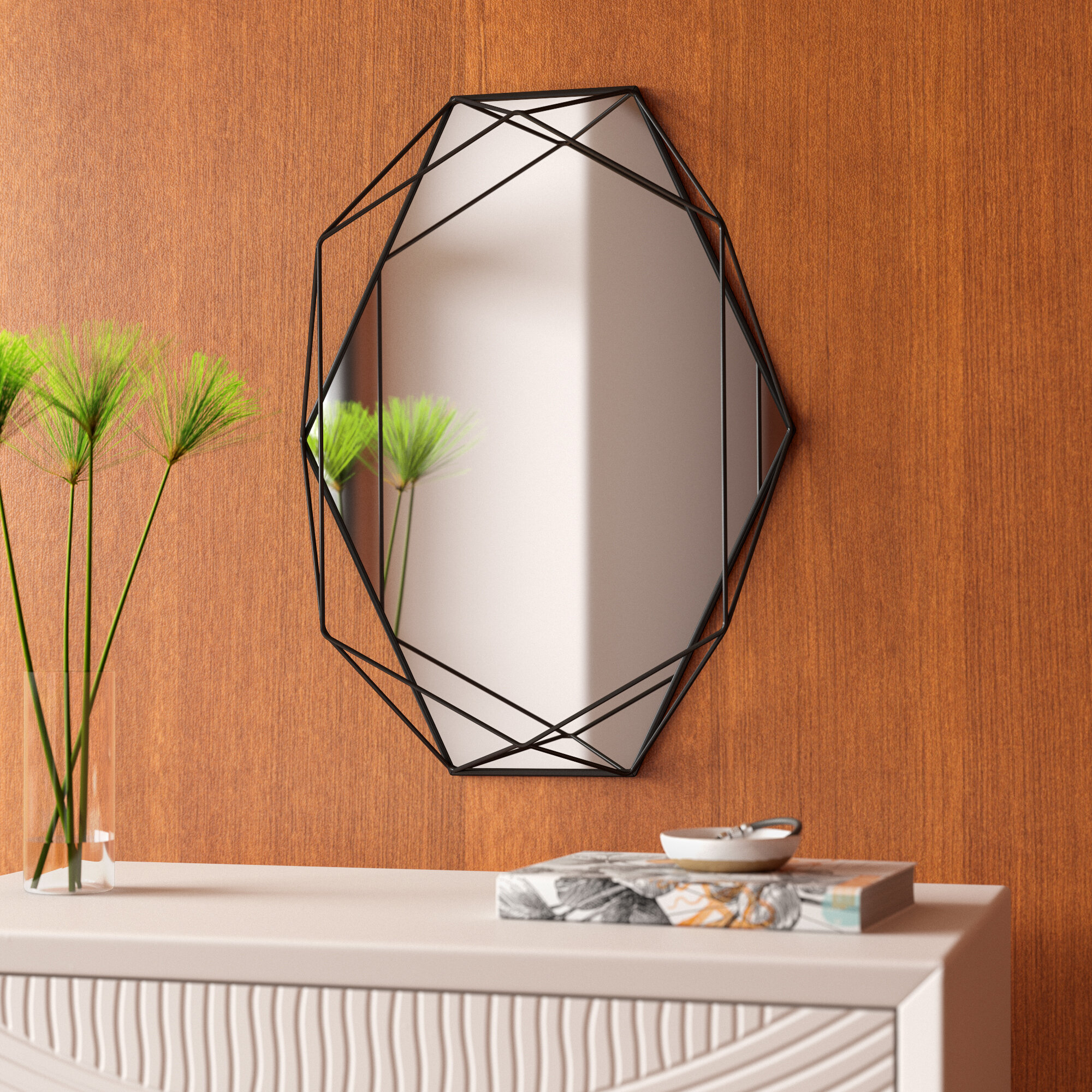 Prisma Modern & Contemporary Accent Mirror With Regard To Dekalb Modern & Contemporary Distressed Accent Mirrors (View 4 of 20)