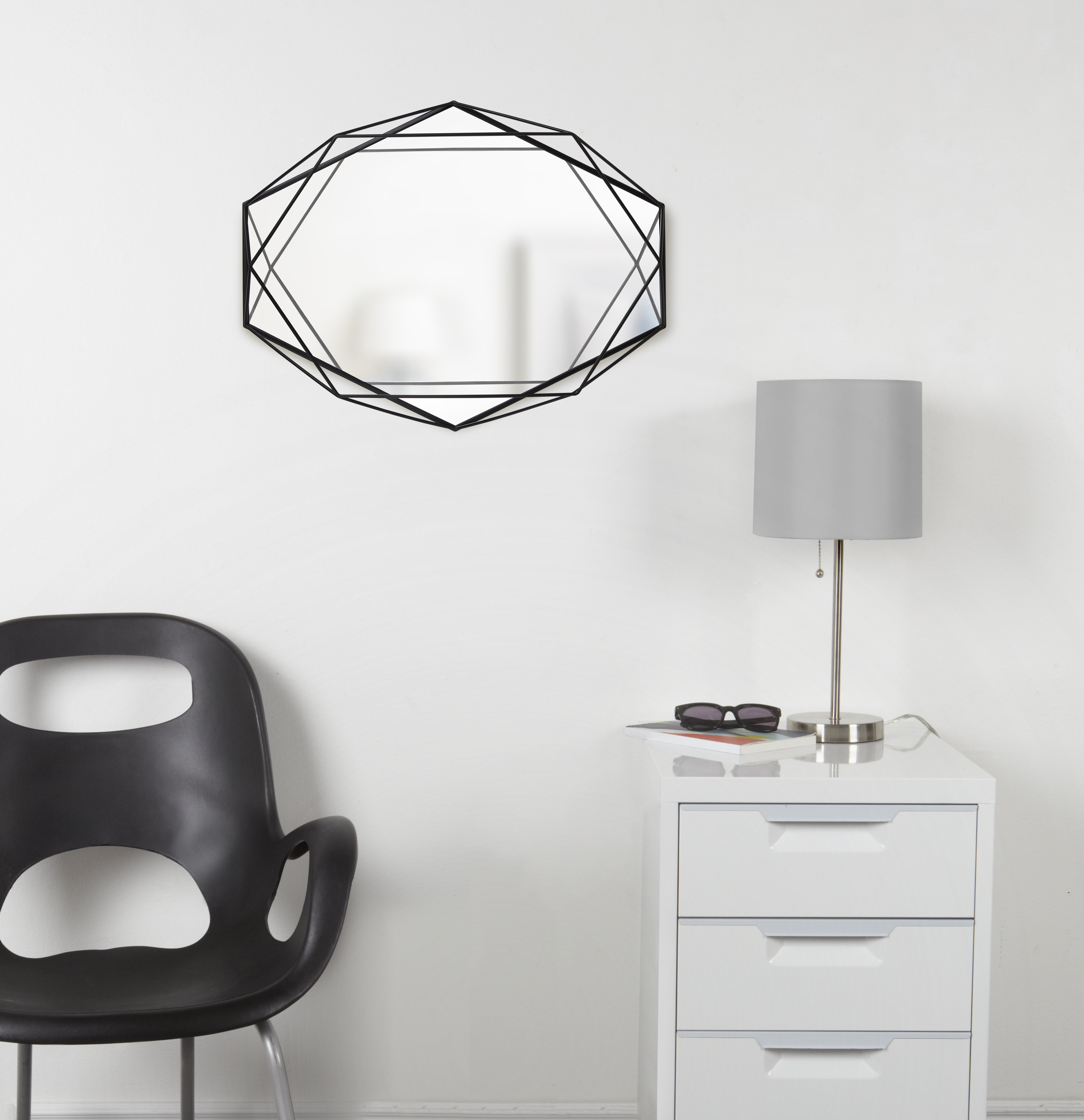 Prisma Modern & Contemporary Accent Mirror Within Dekalb Modern & Contemporary Distressed Accent Mirrors (Image 17 of 20)