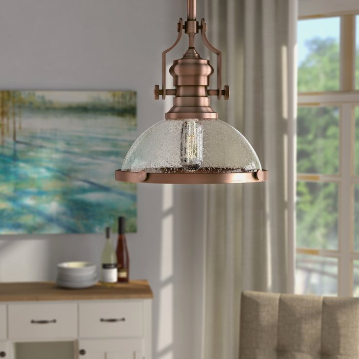 Priston 1 Light Single Dome Pendant Pertaining To Proctor 1 Light Bowl Pendants (View 17 of 25)