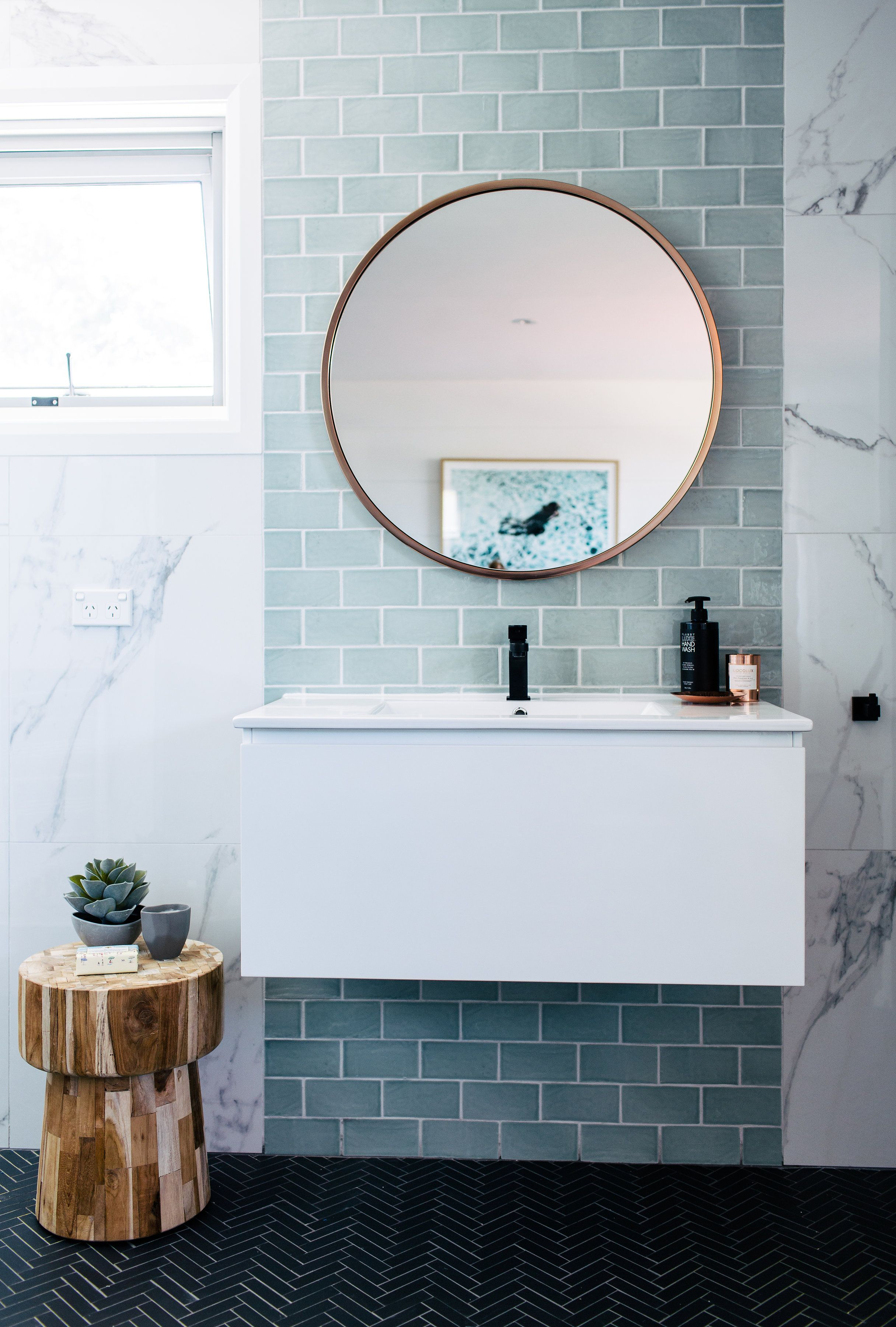Projects | Bathroom | Pinterest | Bathroom, House And Regarding Hussain Tile Accent Wall Mirrors (Image 14 of 20)