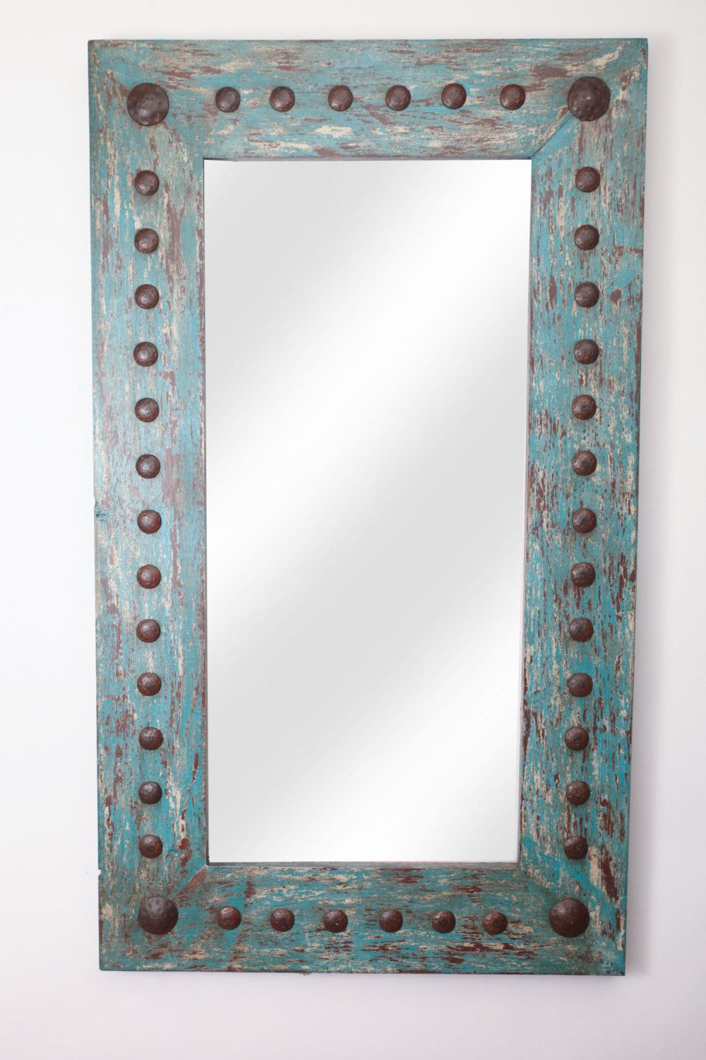 Puebla Rustic Mirror Wood Mexican 20X34 Rustic Western Inside Tifton Traditional Beveled Accent Mirrors (Image 10 of 20)