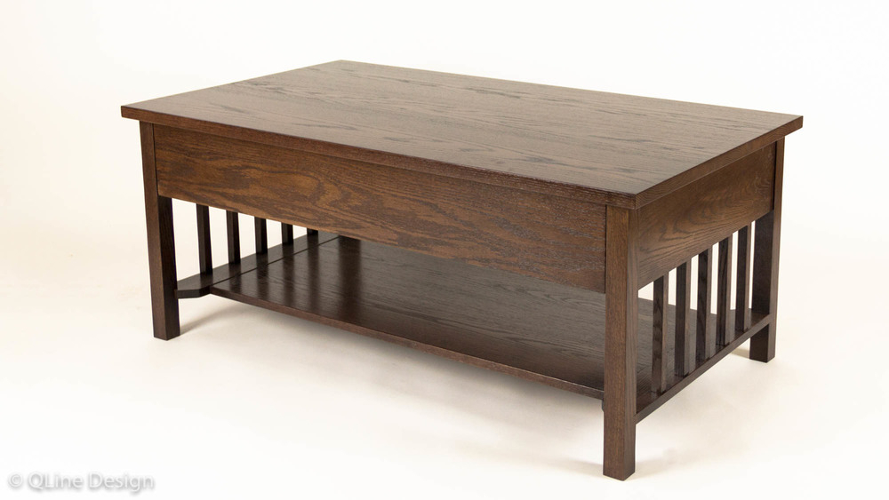 Qline Safeguard Coffee Table – Mission Style | Qline Design For Mission Walnut Coffee Tables (View 6 of 25)