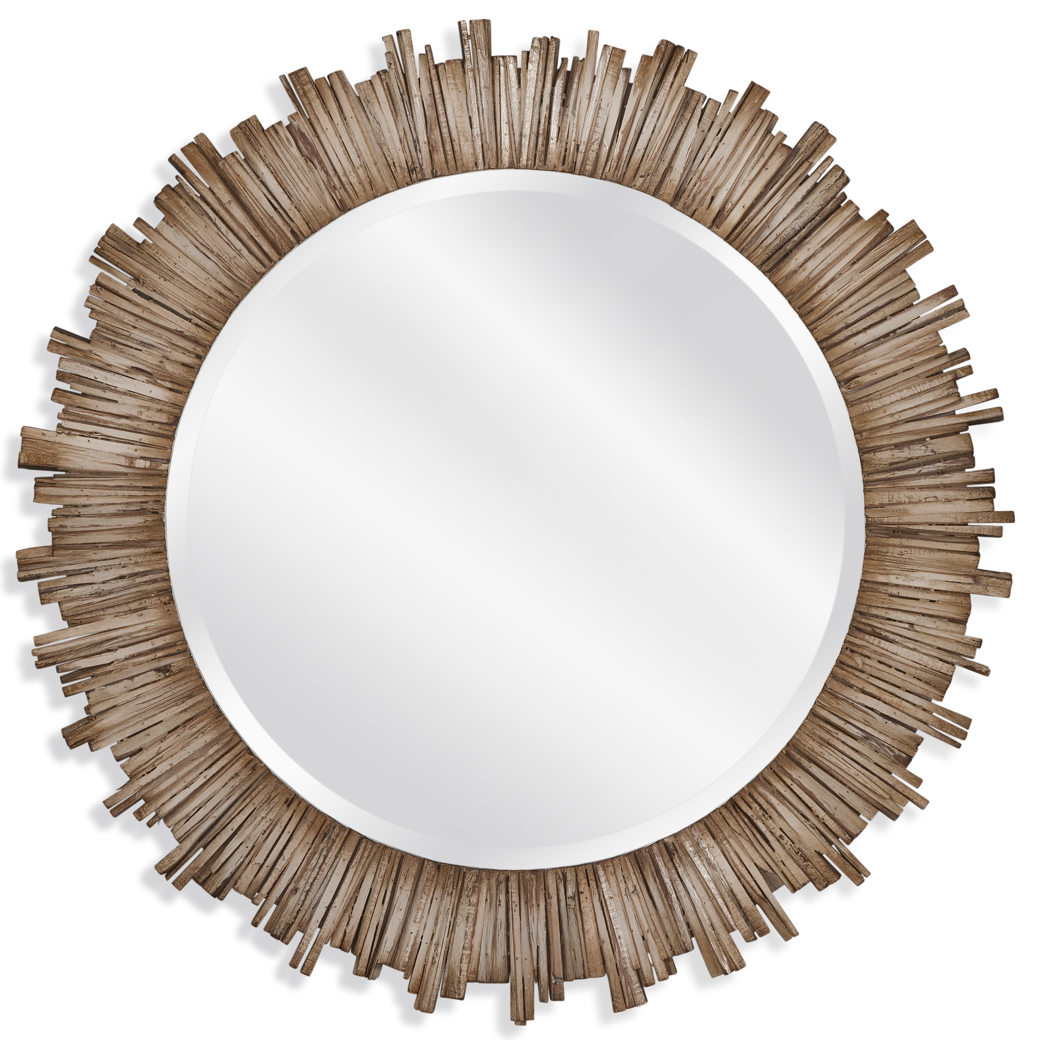 Raleigh Wall Mirror Throughout Perillo Burst Wood Accent Mirrors (Image 15 of 20)