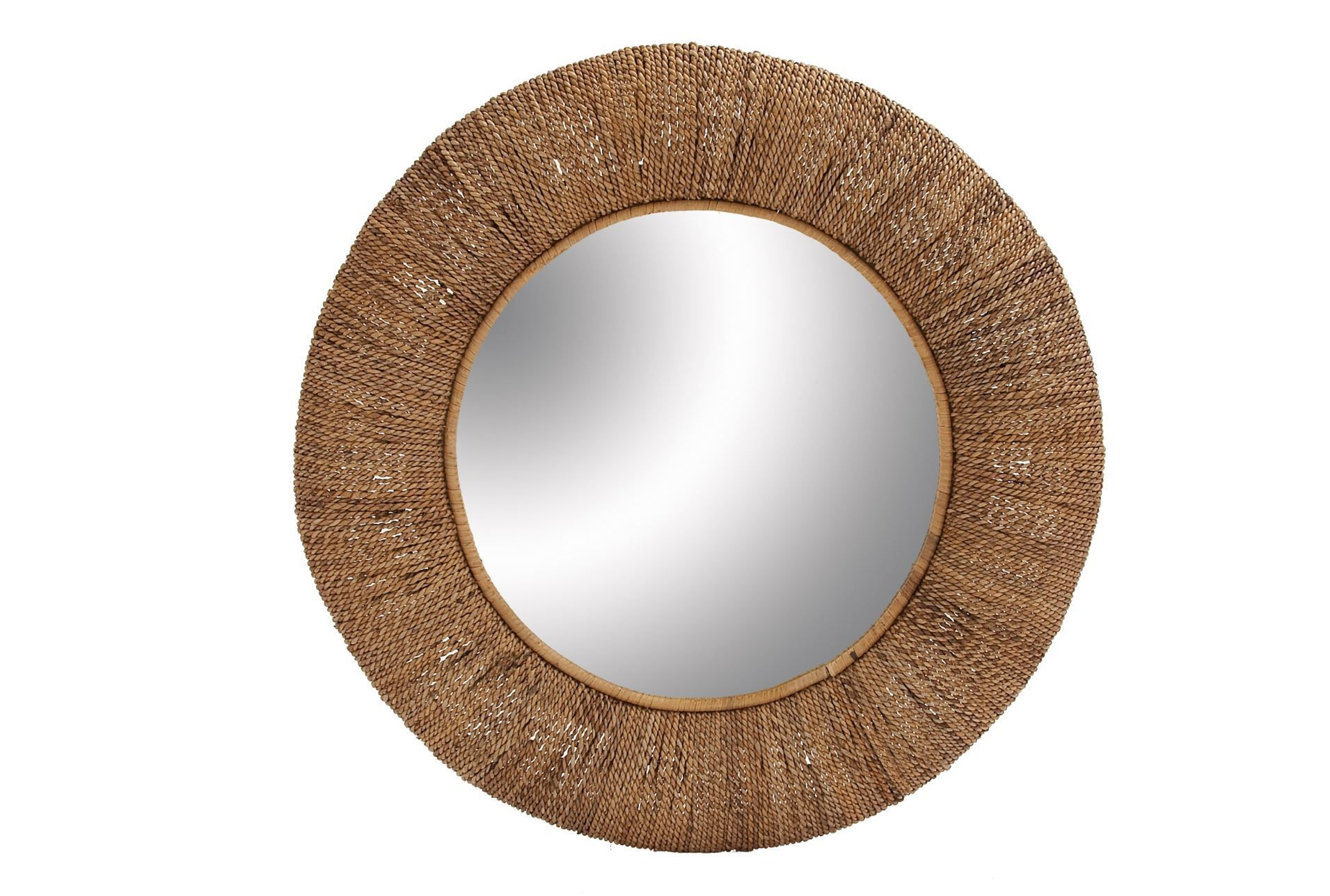 Rattan Circle Mirror  36X36 | Living Spaces | 44 Living Throughout Needville Modern & Contemporary Accent Mirrors (Image 17 of 20)