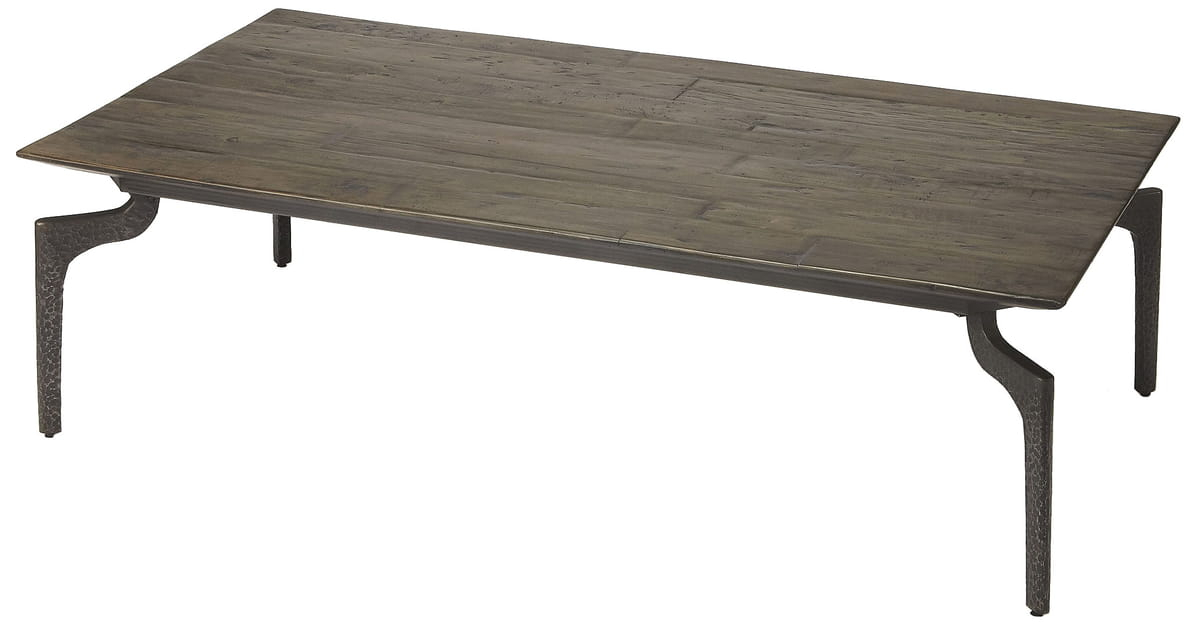 Rawlins Iron & Wood Coffee Table | Hedgeapple Throughout Carbon Loft Lawrence Reclaimed Cube Coffee Tables (Image 25 of 50)