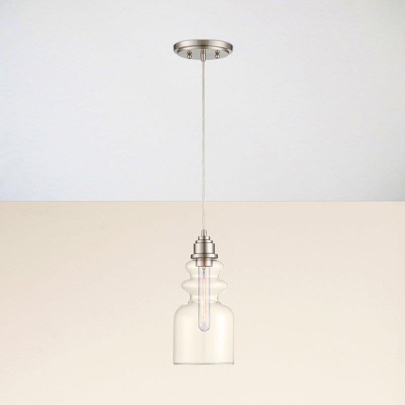 Reade 1 Light Bell Pendant In Wentzville 1 Light Single Bell Pendants (Image 12 of 25)