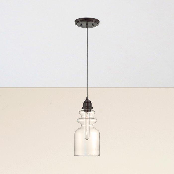 Reade 1 Light Bell Pendant Regarding Barrons 1 Light Single Cylinder Pendants (View 12 of 25)