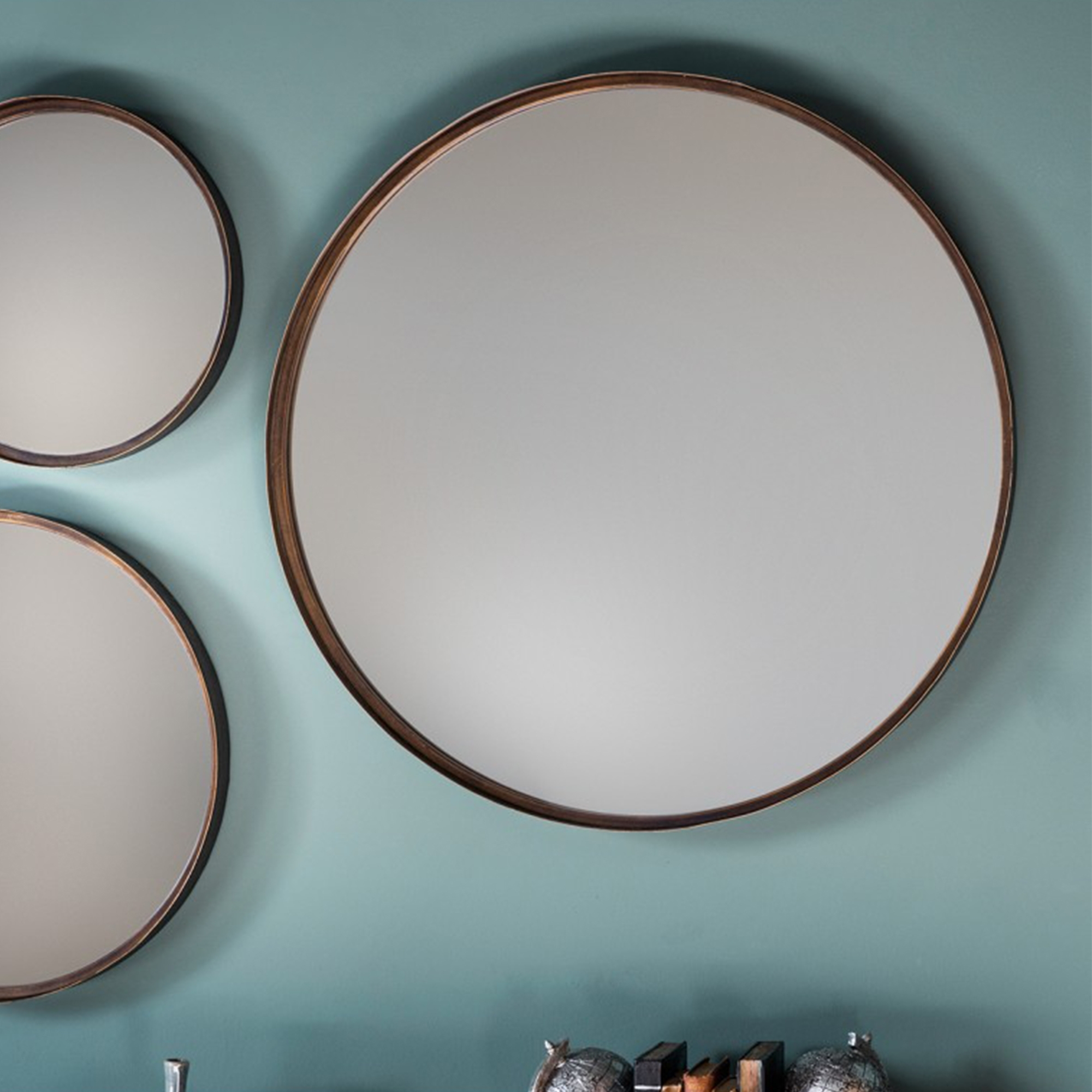 Reading Round Mirror (2 Pack) Intended For Marion Wall Mirrors (Image 17 of 20)