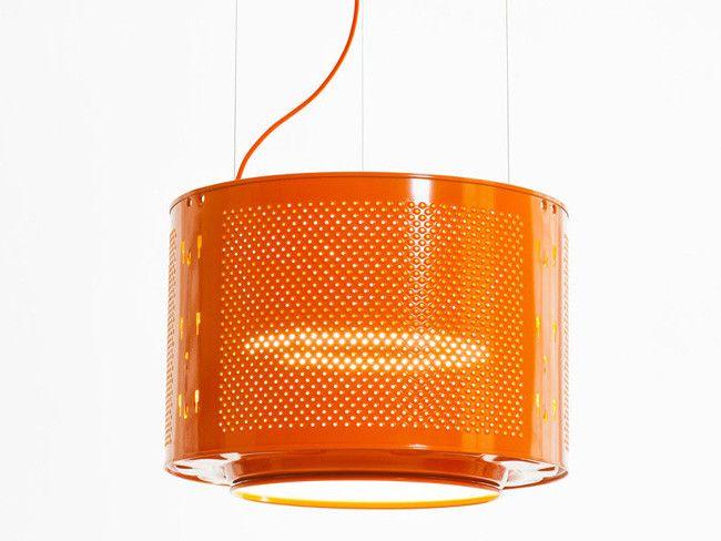 Recicladecoración: Lámparas Con Tambores De Lavadora | Bambu In Willems 1 Light Single Drum Pendants (Image 14 of 25)