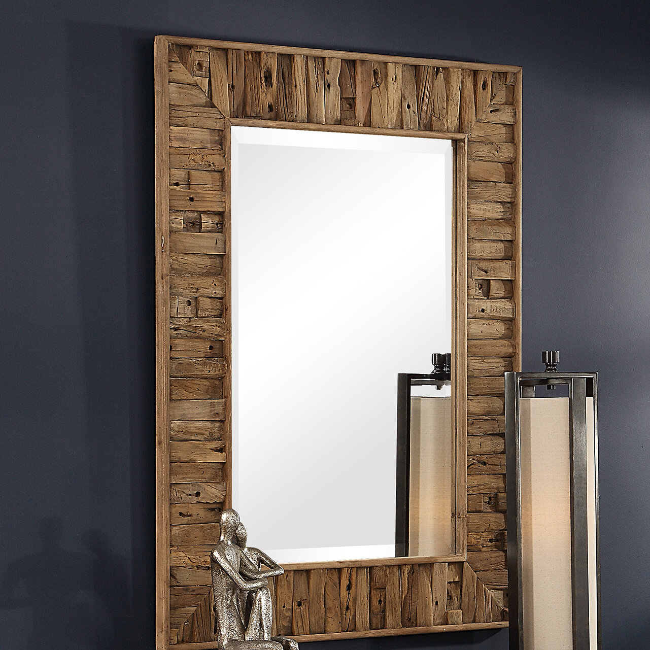 Reclaimed Mirror | Wayfair Regarding Booth Reclaimed Wall Mirrors Accent (Image 15 of 20)