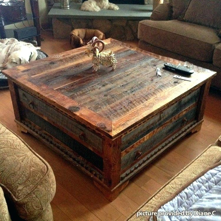Reclaimed Wood Coffee Table On Wheels Regarding Montgomery Industrial Reclaimed Wood Coffee Tables With Casters (View 42 of 50)