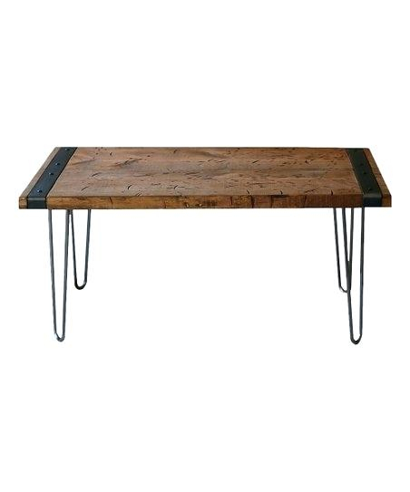Reclaimed Wood Industrial Coffee Table – Yatter (View 9 of 50)