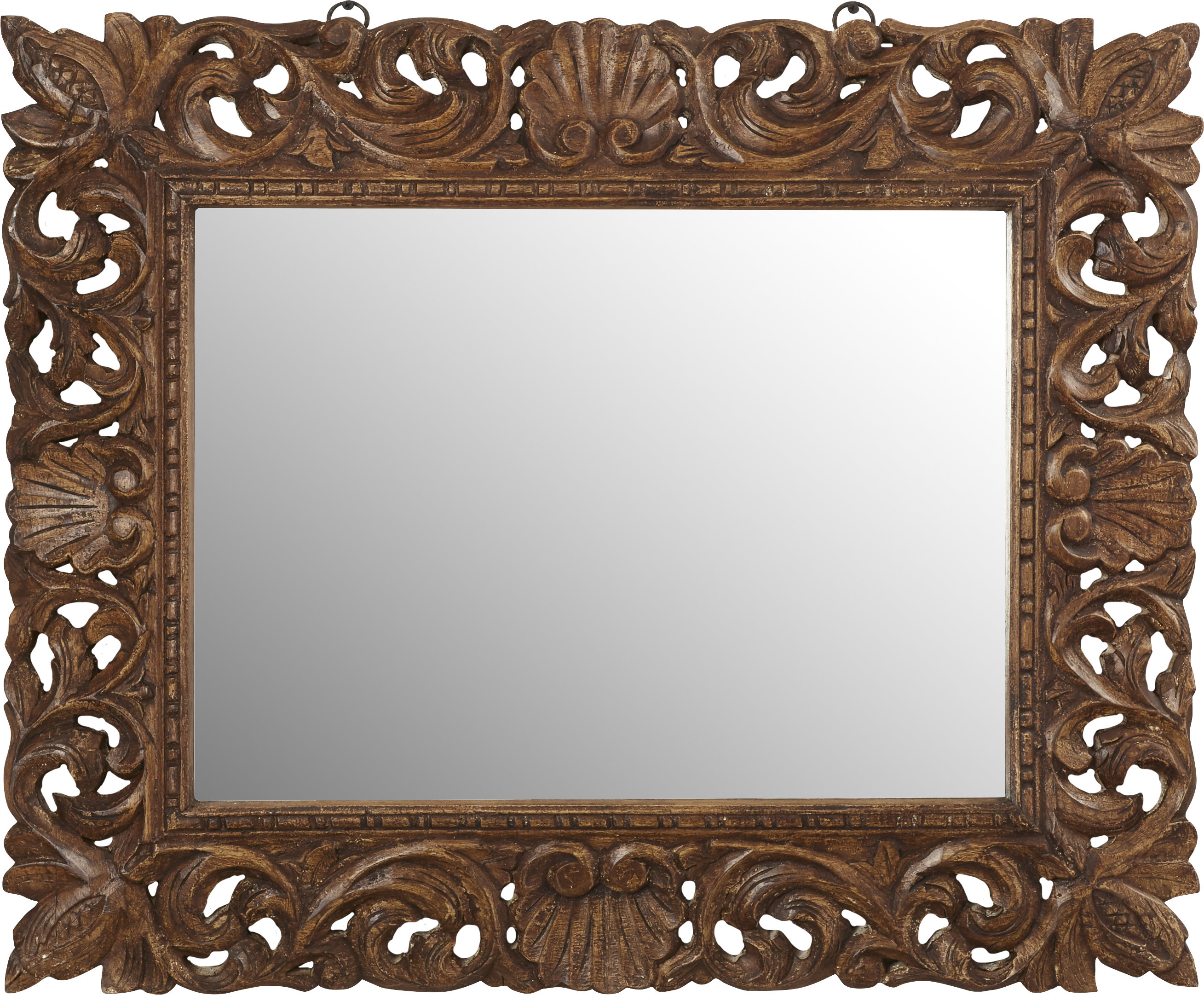 Reclaimed Wood Traditional Beveled Distressed Wall Mirror Regarding Alissa Traditional Wall Mirrors (View 4 of 20)