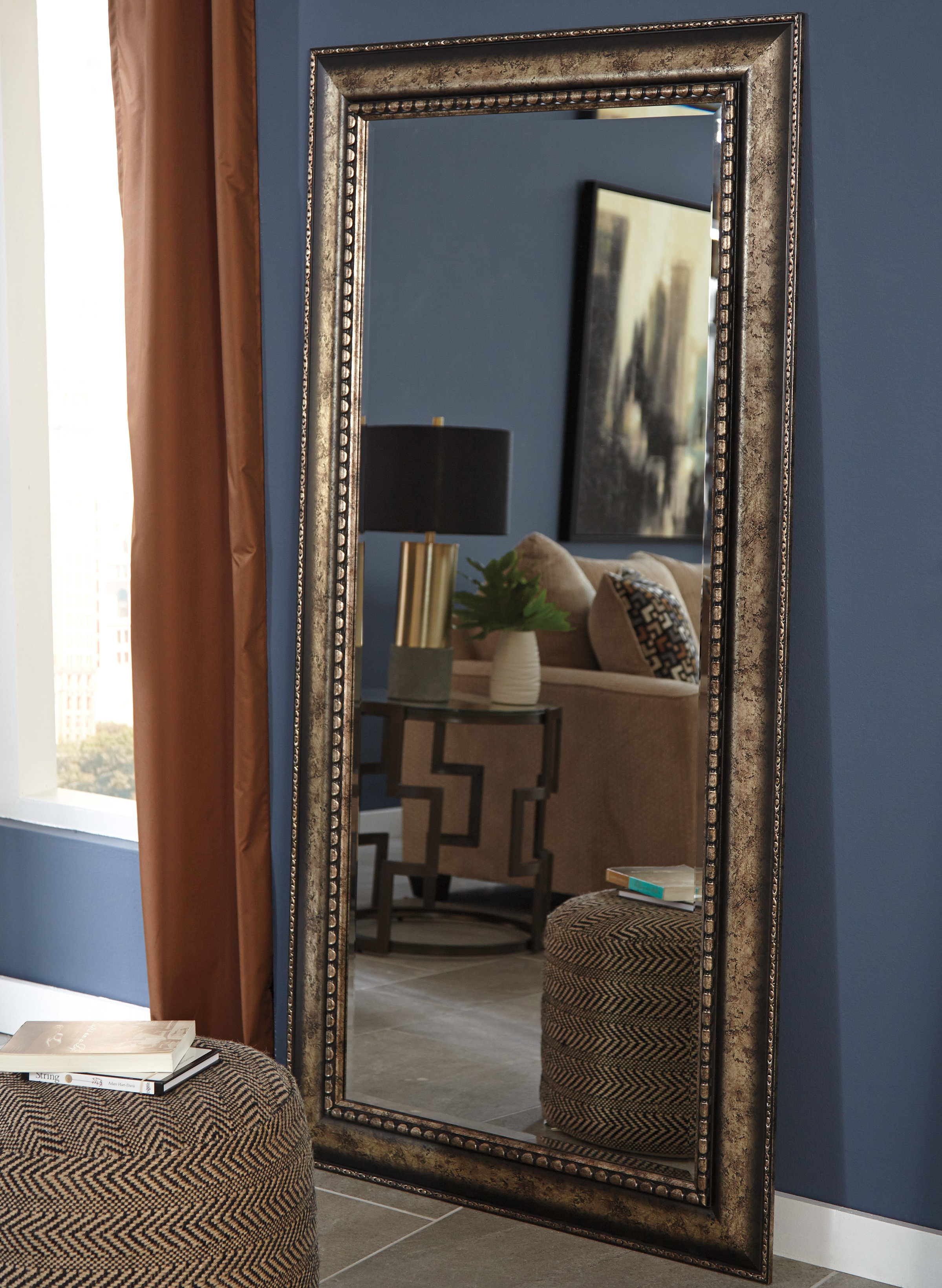 Rectangle Antique Silver Wall Mirror In Boyers Wall Mirrors (Image 17 of 20)