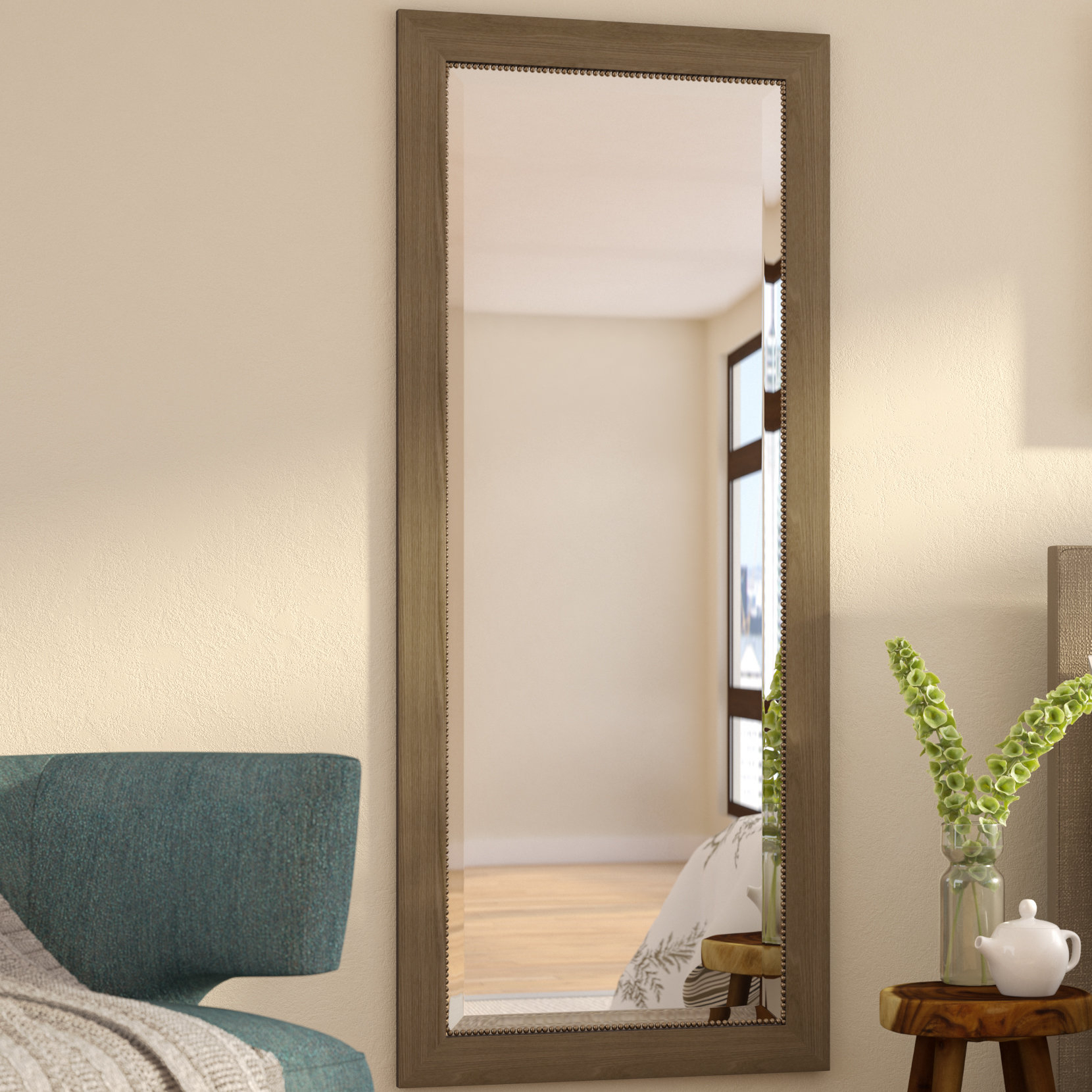 Rectangle Beveled Wall Mirror Inside Sartain Modern & Contemporary Wall Mirrors (View 9 of 20)