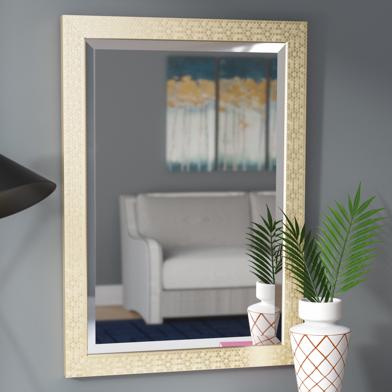 Rectangle Framed Beveled Accent Mirror For Rectangle Accent Mirrors (View 14 of 20)