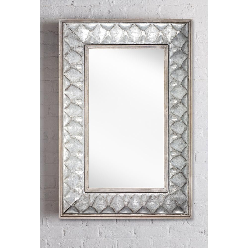 Rectangle Metal Wall Mirror Pertaining To Rectangle Ornate Geometric Wall Mirrors (Photo 8 of 20)