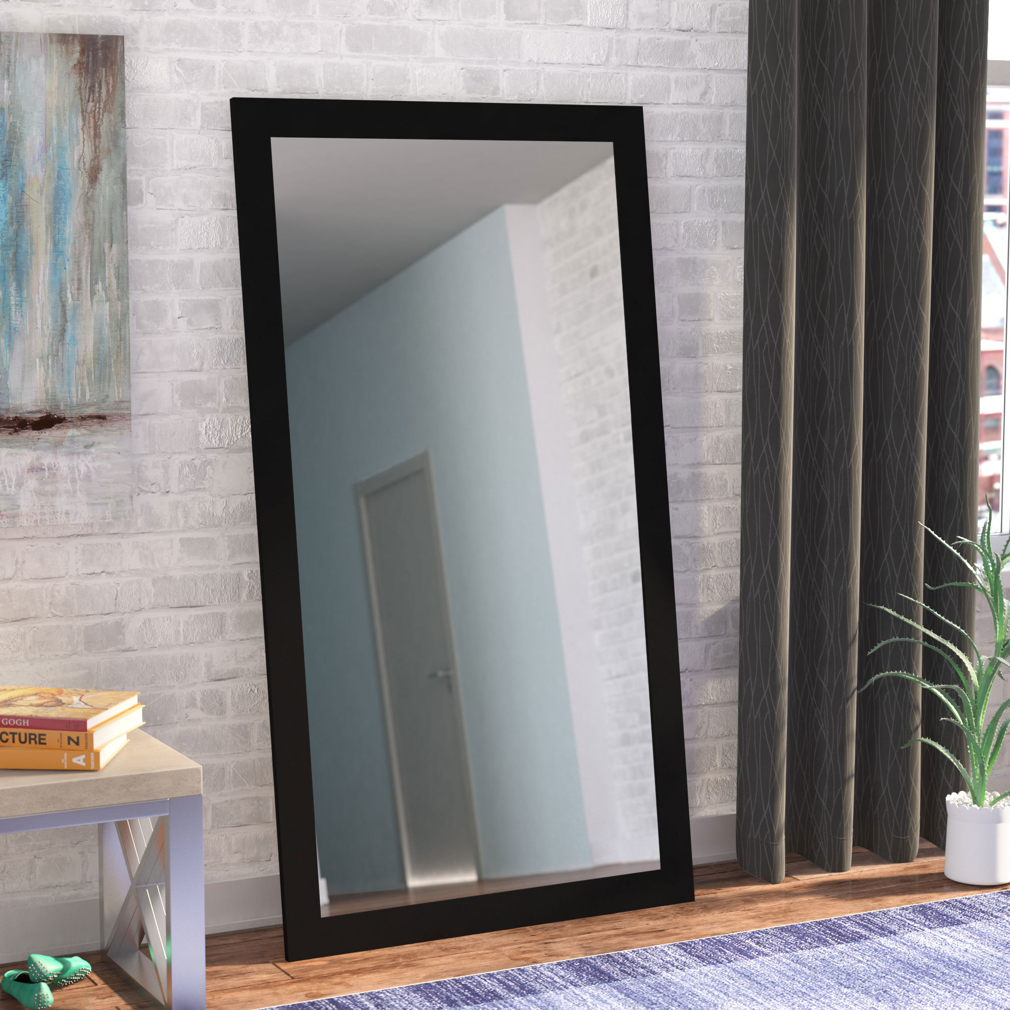 Rectangle Modern Wall Mirror Throughout Modern Rectangle Wall Mirrors (View 16 of 20)