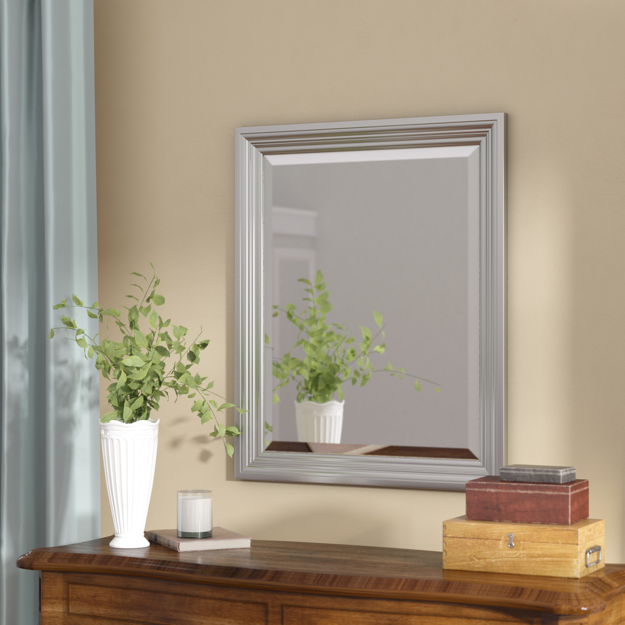Featured Image of Rectangle Plastic Beveled Wall Mirrors