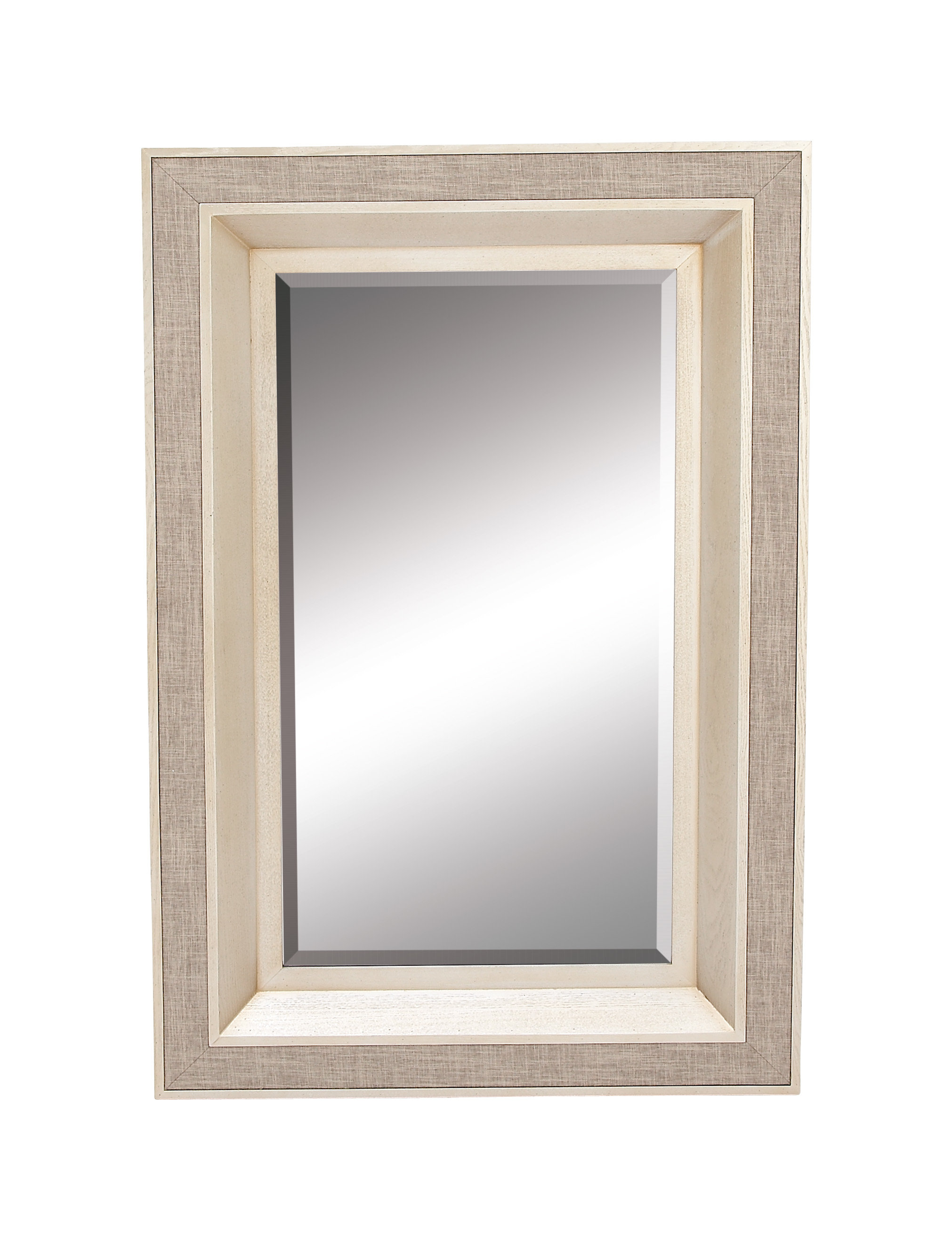 Rectangle Wood Frame Wall Mirror | Wayfair With Caja Rectangle Glass Frame Wall Mirrors (View 19 of 20)