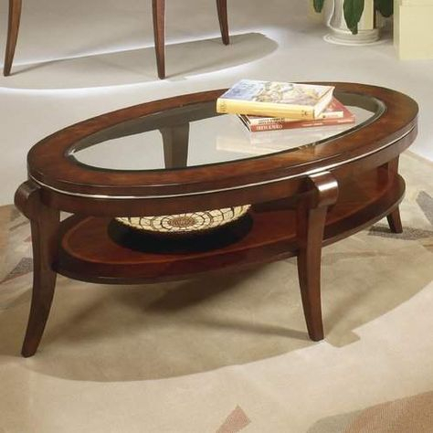 Red Barrel Studio Buxton Coffee Table #solid#shelving#saber Intended For Cohler Traditional Brown Cherry Oval Coffee Tables (View 5 of 25)