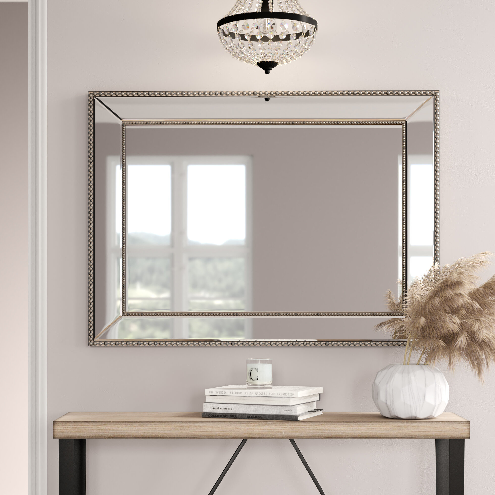Reid Beaded Wall Mirror Inside Wall Mirrors (Image 17 of 20)