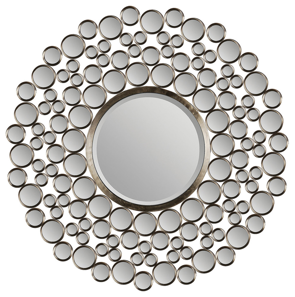 Ren Wil Andromeda Wall Decorative Mirror Framed Round Large Within Celeste Frameless Round Wall Mirrors (View 18 of 20)