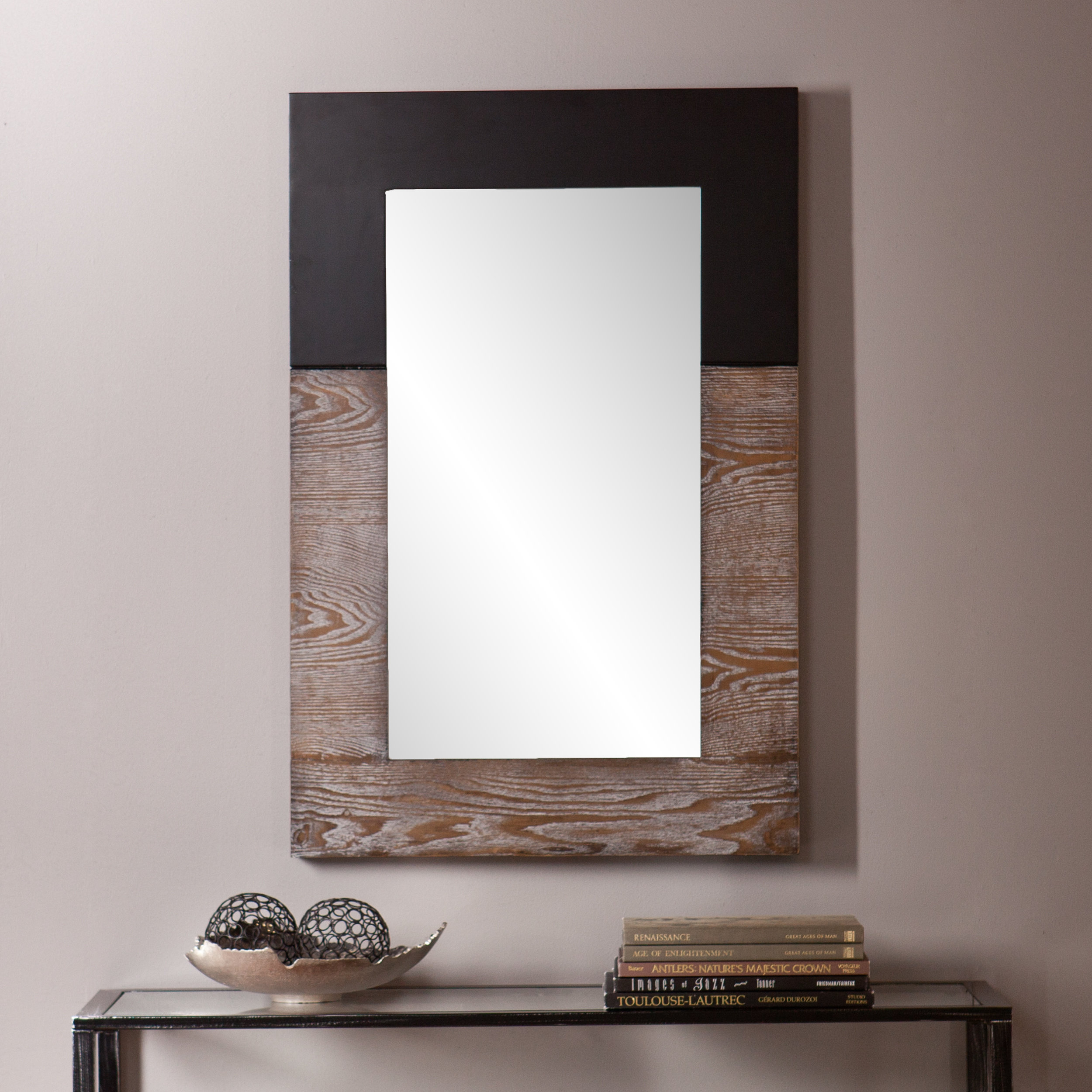 Rena Accent Mirror Within Koeller Industrial Metal Wall Mirrors (Image 15 of 20)