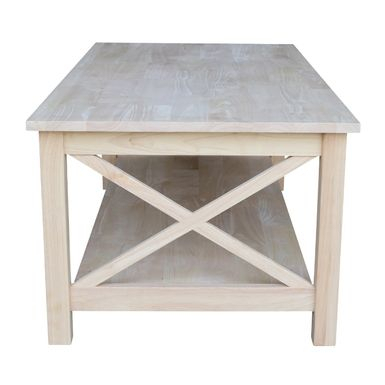 Rent To Own Unfinished Solid Parawood Hampton Coffee Table Throughout Unfinished Solid Parawood Hampton Coffee Tables (Image 9 of 25)