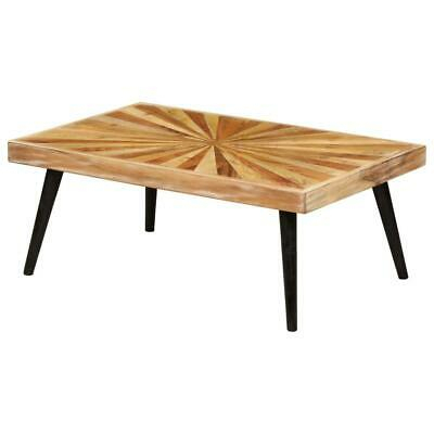 Retro Coffee Table Modern Furniture Solid Mango Rustic Style Wooden Mid Century | Ebay Inside Solid Hardwood Rectangle Mid Century Modern Coffee Tables (View 19 of 50)