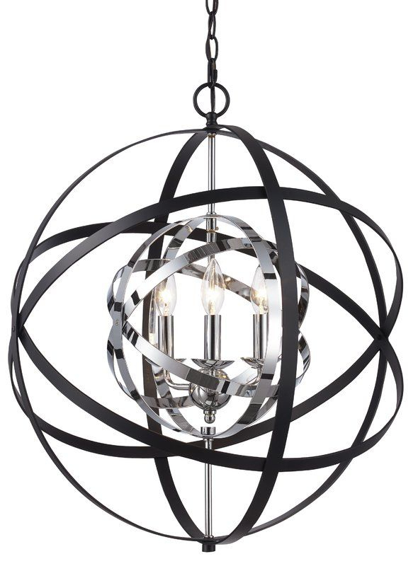 Rhinecliff 3 Light Globe Pendant | Living Room | Bel Air Regarding La Barge 3 Light Globe Chandeliers (View 16 of 20)