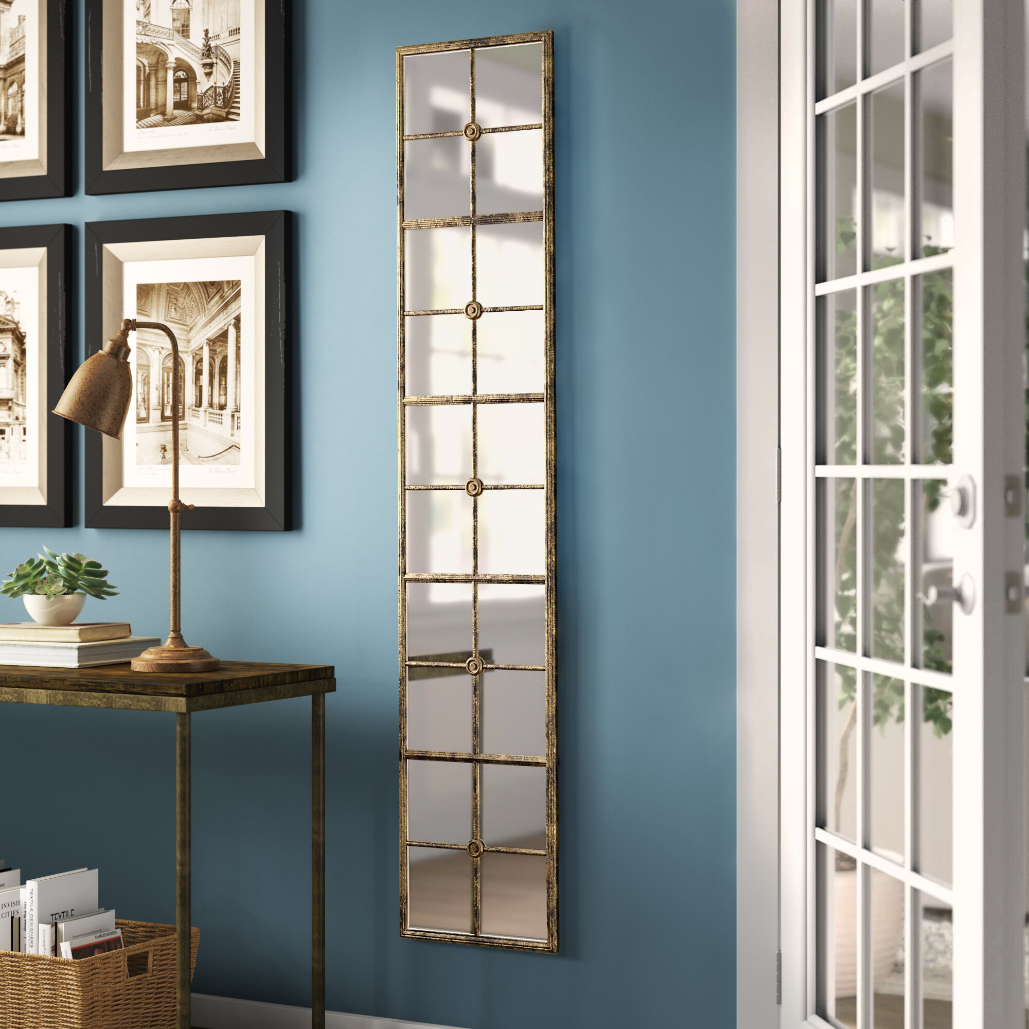 Rhonda Modern & Contemporary Full Length Mirror Inside 2 Piece Priscilla Square Traditional Beveled Distressed Accent Mirror Sets (Image 14 of 20)