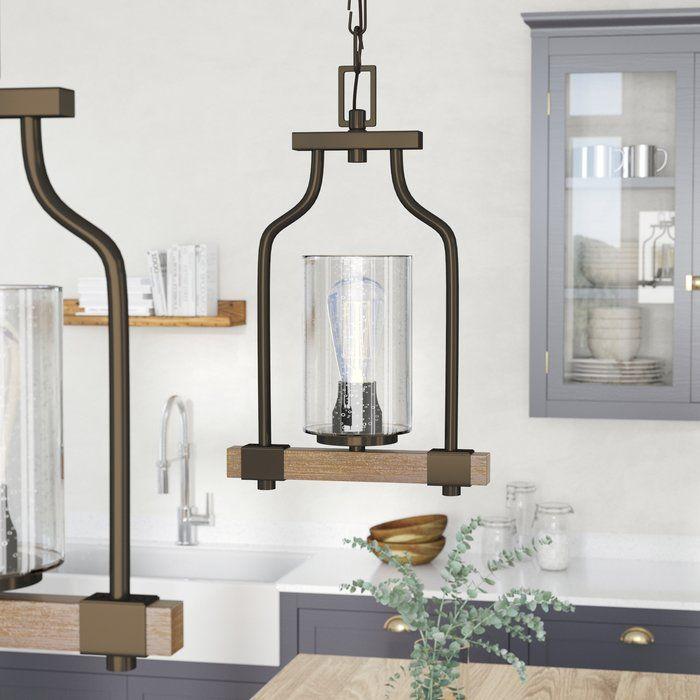 Richard 1 Light Geometric Pendant In 2019   Kitchen For Louanne 1 Light Lantern Geometric Pendants (View 15 of 20)