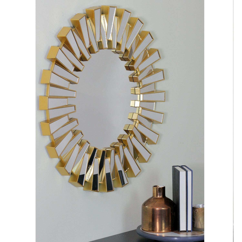 Richards Aztec Inspired Sparkling Sunburst Round Wall Mirror In Deniece Sunburst Round Wall Mirrors (Image 10 of 20)