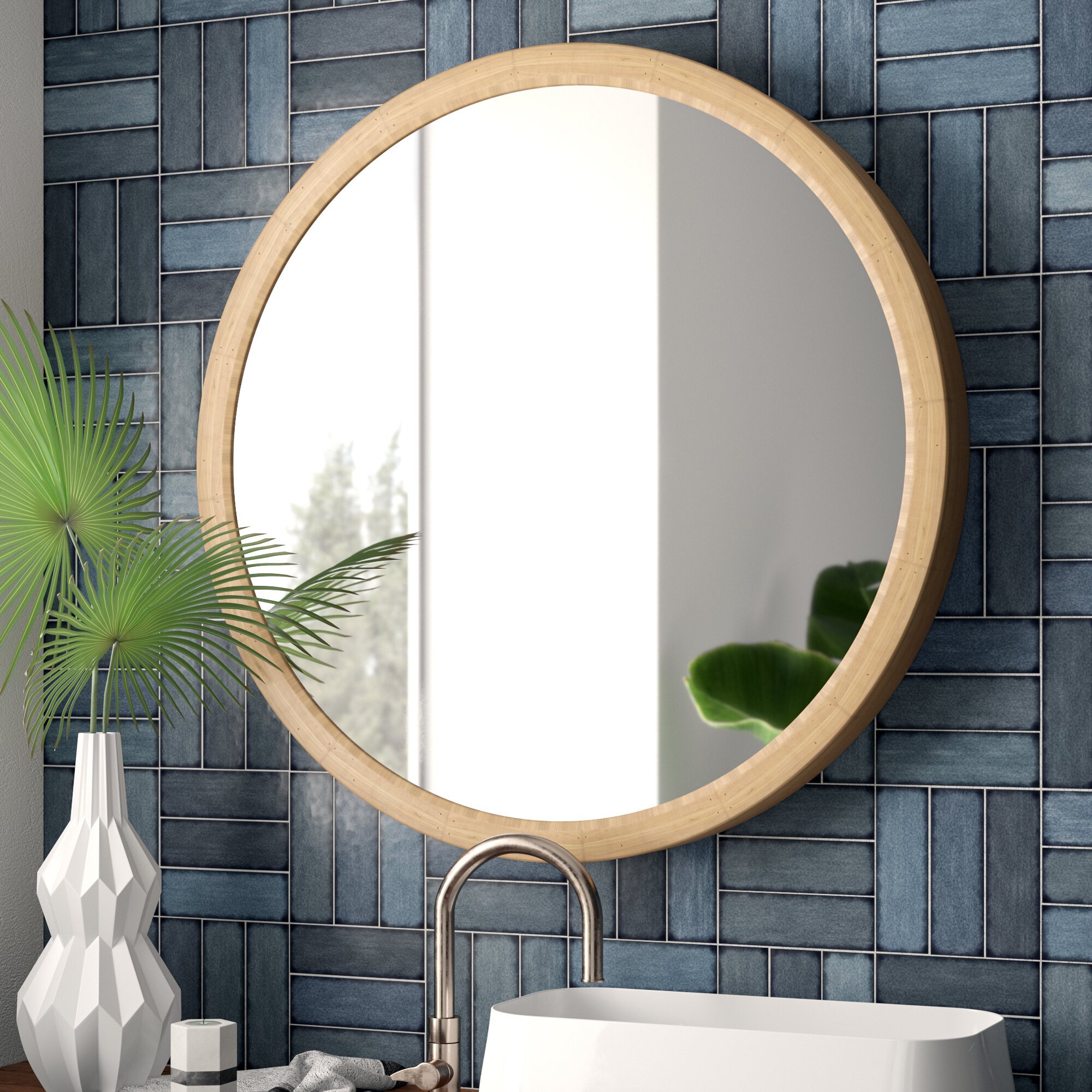 Rigdon Rustic Accent Mirror Intended For Tanner Accent Mirrors (Image 15 of 20)