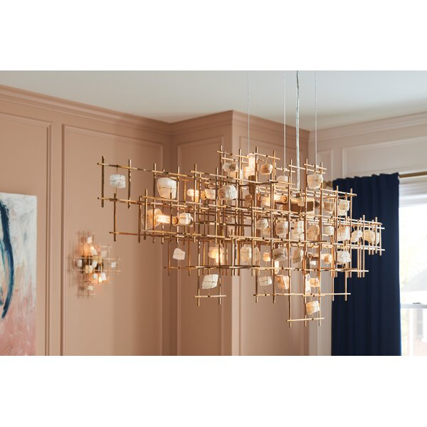 Ringsted 9 Light Geometric Chandelier Inside Hermione 5 Light Drum Chandeliers (Image 19 of 20)