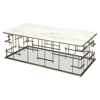 Riverside Furniture Jacquin Rectangular Coffee Table Inside Carmella Satin Plated Coffee Tables (View 30 of 50)