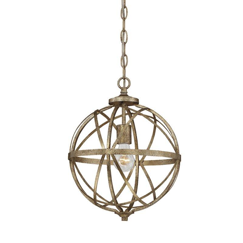 Rodden 1 Light Single Globe Pendant Throughout Adcock 3 Light Single Globe Pendants (Image 21 of 25)