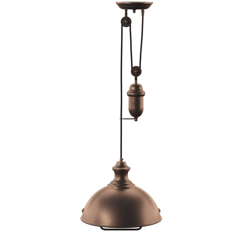 Rodriques Pulldown 1 Light Inverted Pendant Within Dunson 3 Light Kitchen Island Pendants (View 19 of 25)