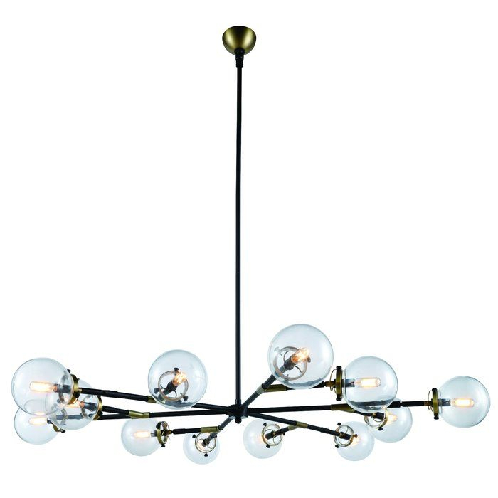 Roman 12 Light Led Chandelier In 2019 | Dining Room Revamp With Regard To Vroman 12 Light Sputnik Chandeliers (View 11 of 20)
